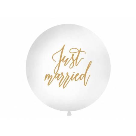 Ballon géant 1 m vient de se marier blanc