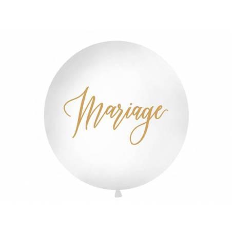 Ballon géant 1 m Mariage blanc