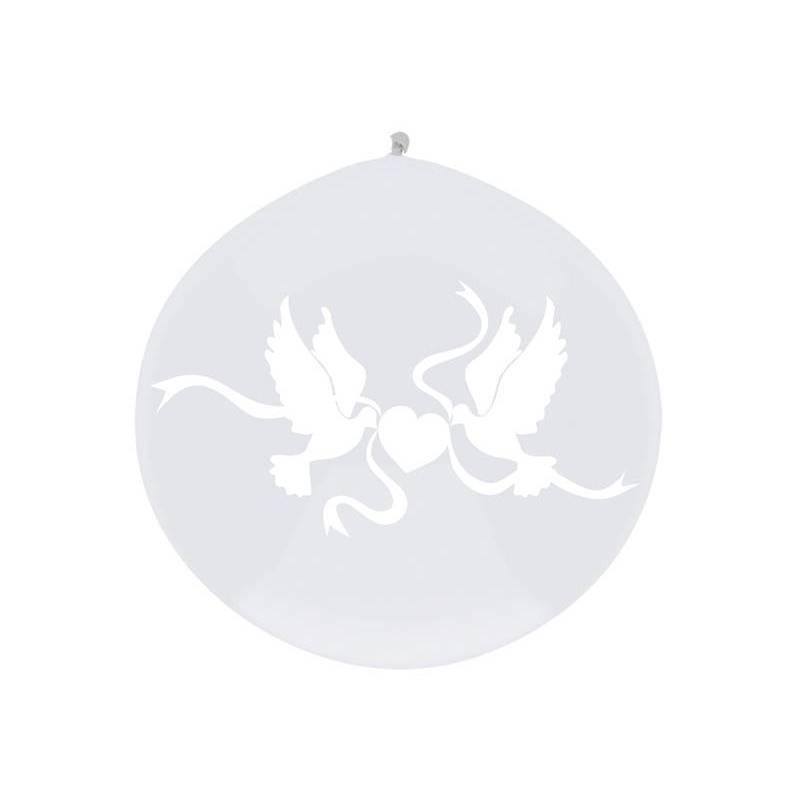 Ballon Colombes blanches 1m