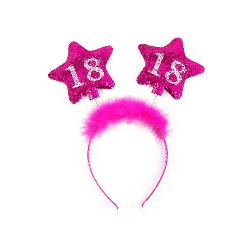 Bandeau avec étoiles 18 rose
