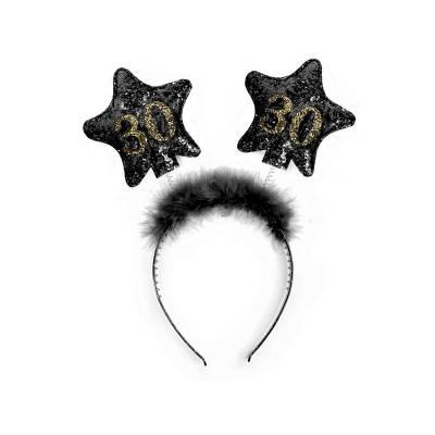Bandeau avec étoiles 30 noir