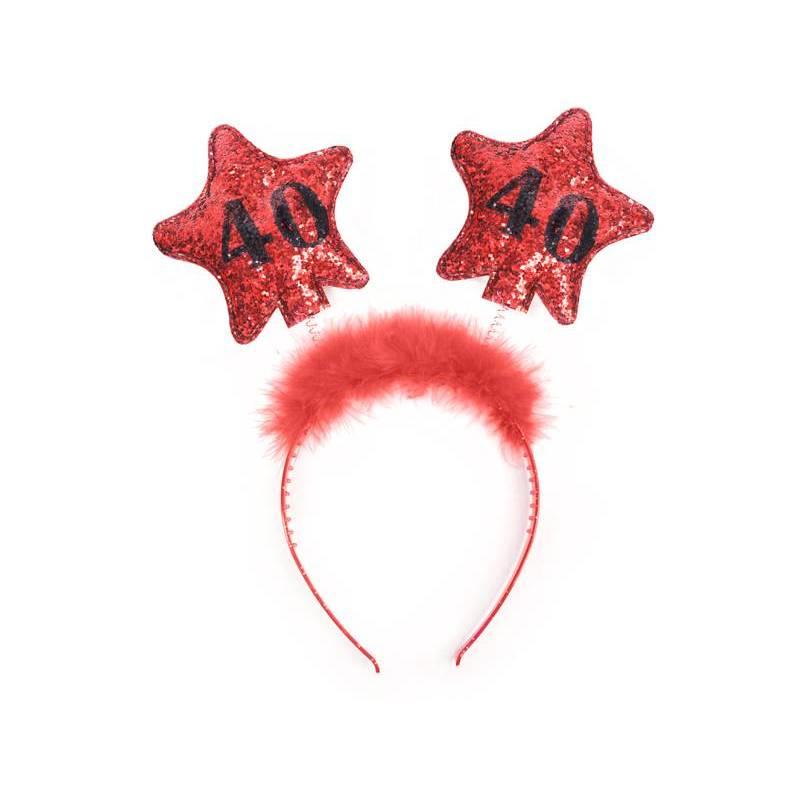 Bandeau avec étoiles 40 rouge