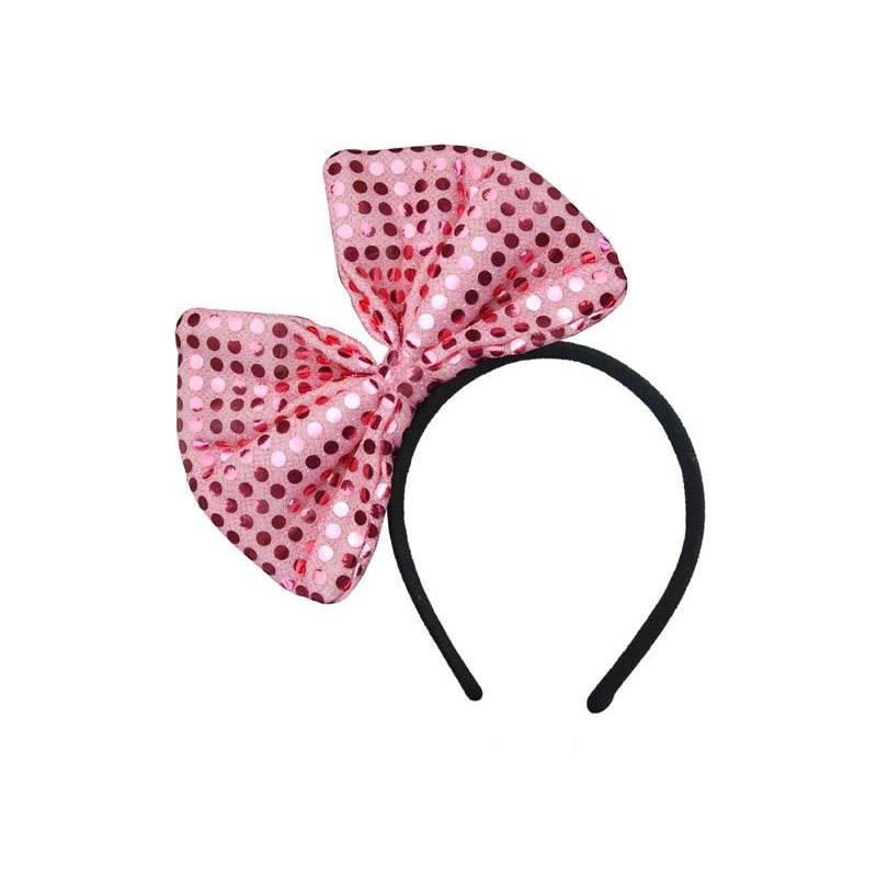 Bandeau avec un noeud rose