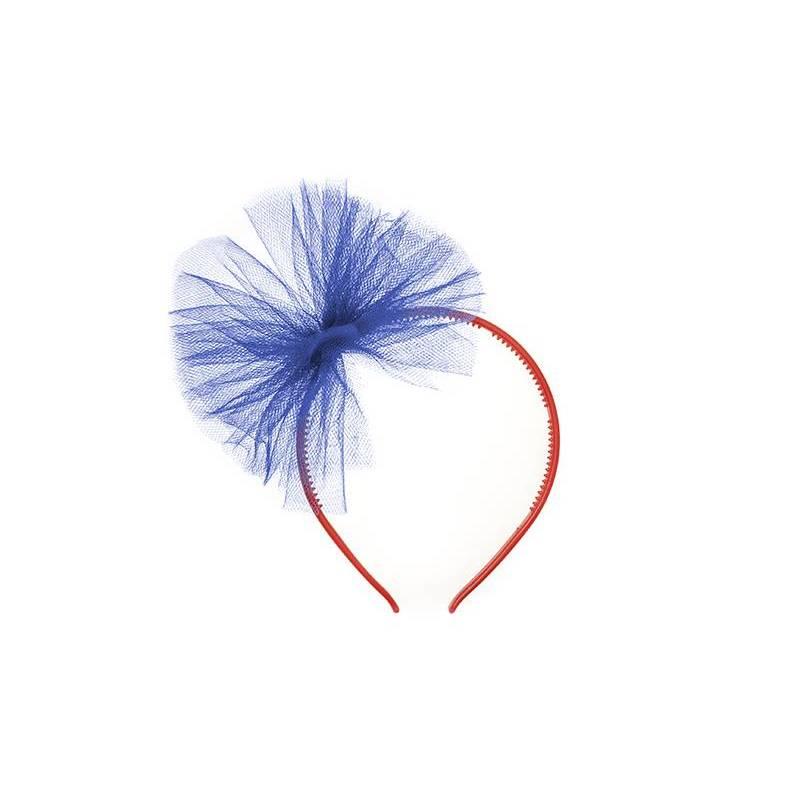 Bandeau en tulle bleu marine