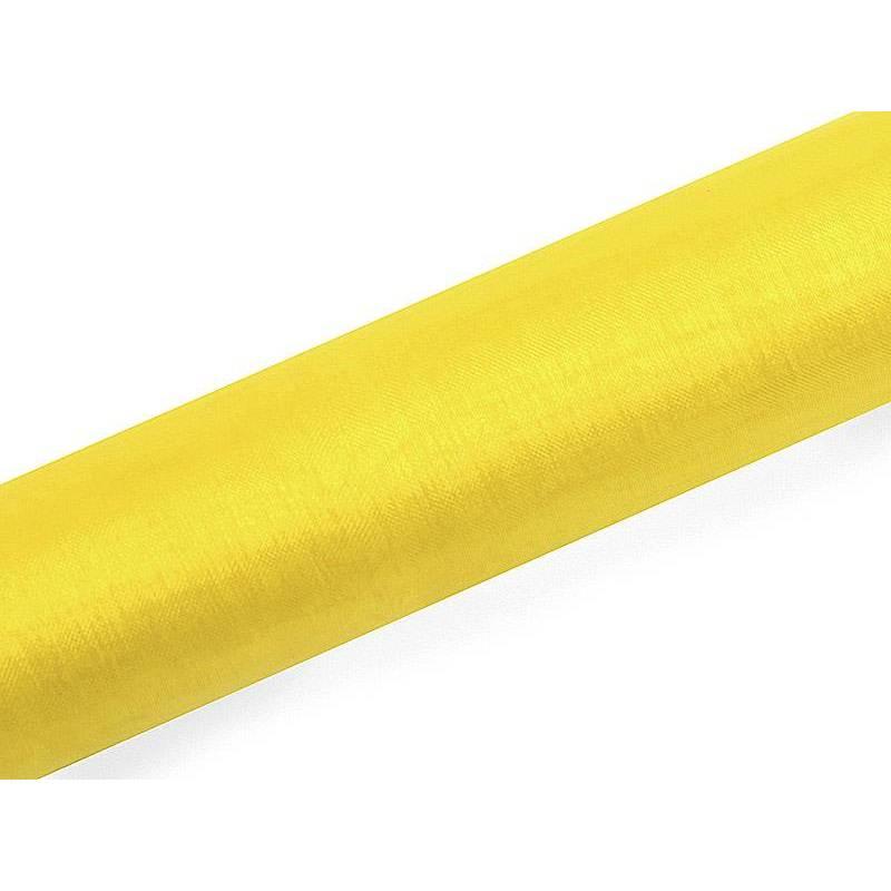 Organza Uni jaune 016 x 9m