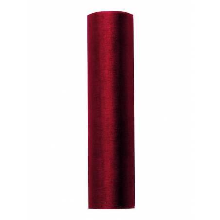 Organza Plain vin rouge 016 x 9m