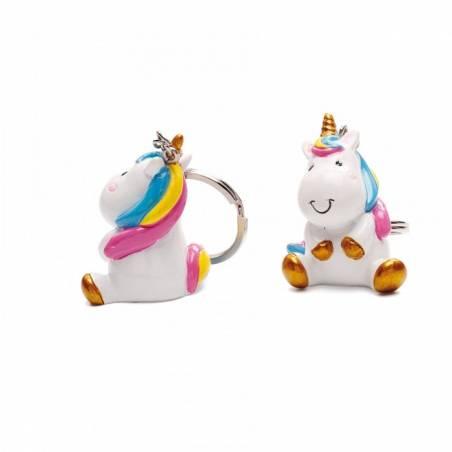 2 Licornes Luna porte-clés