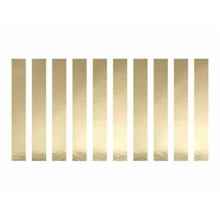 Anneaux en papier pour serviettes de table en or
