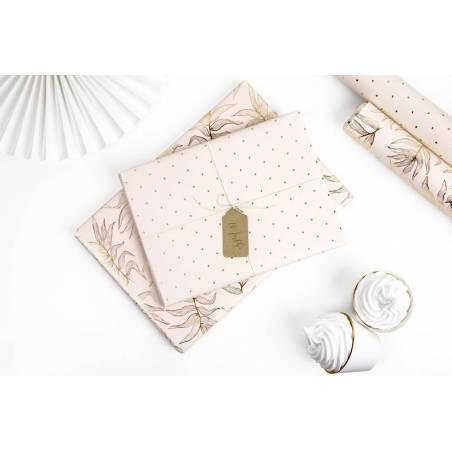 Papier d'emballage rose mélange 70x200cm