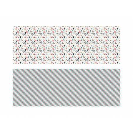 Papier d'emballage Joyeux Noël mélanger 70x200cm