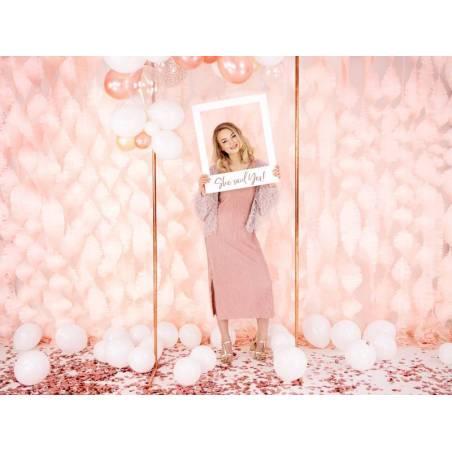 Cadre photo Slefie Elle a dit oui or rose 50x59.5cm