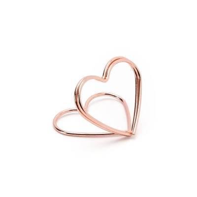 Porte-cartes Hearts or rose 25 cm