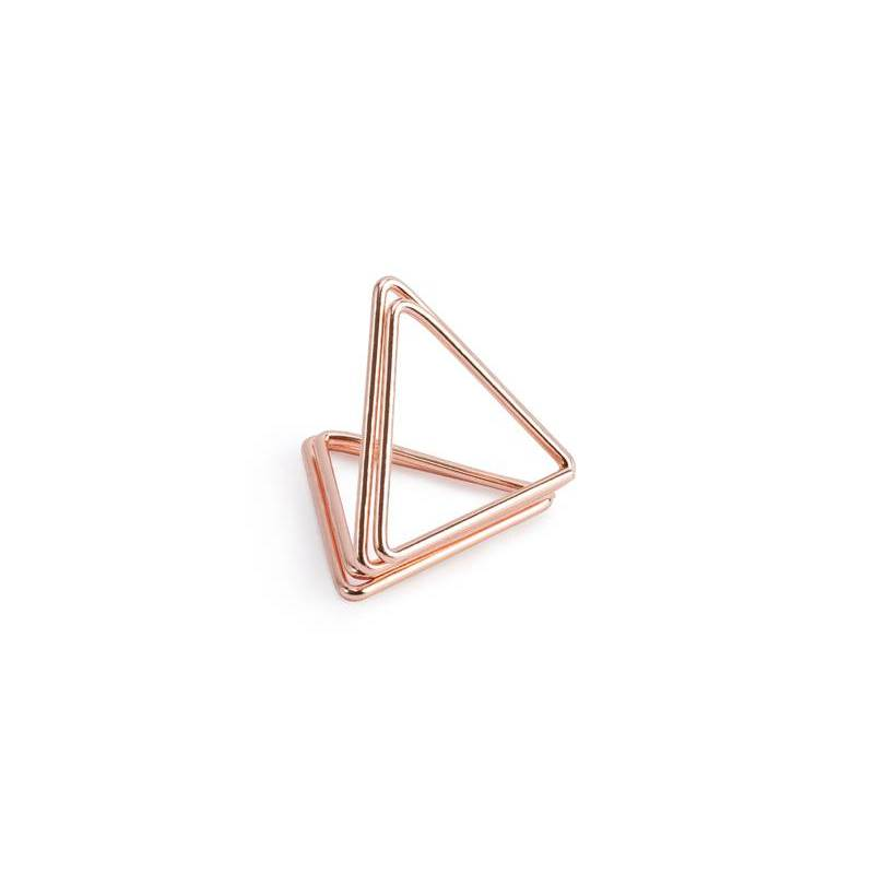 Porte-cartes Triangles or rose 23 cm