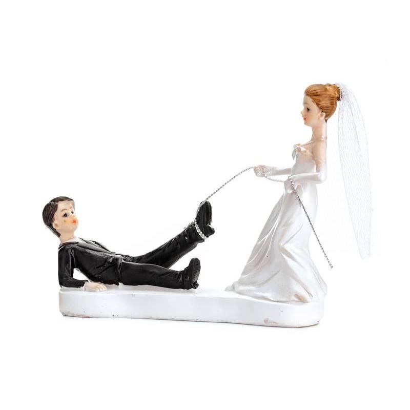 Cake Topper Jeunes mariés avec une corde 13cm