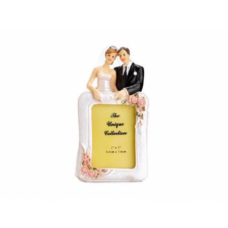 Cadre photo Cake Topper pour nouveaux mariés 14cm