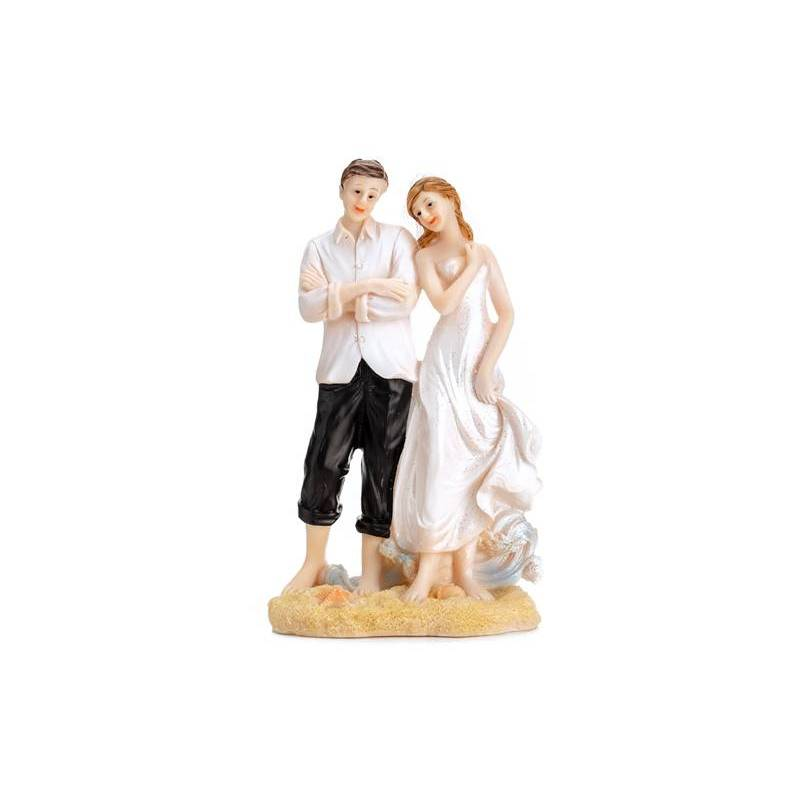 Cake Topper Jeunes mariés sur la plage 15.5cm