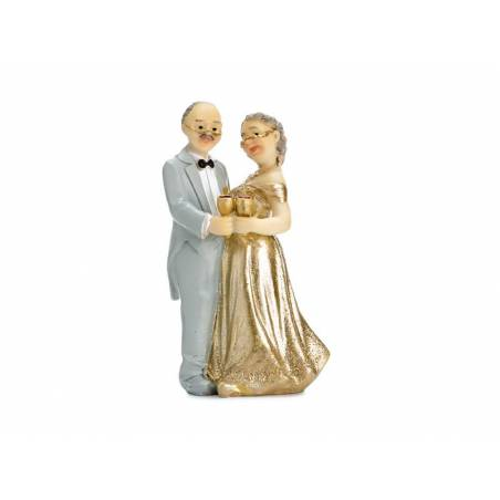 Cake Topper Anniversaire d'Or 12cm