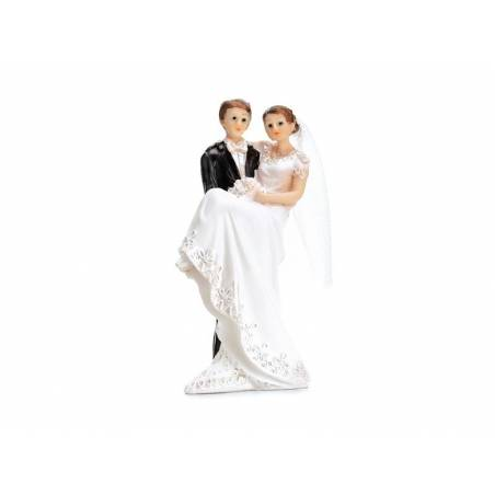 Cake Topper Jeunes mariés 11cm
