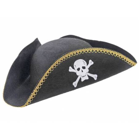 Chapeau de pirate noir