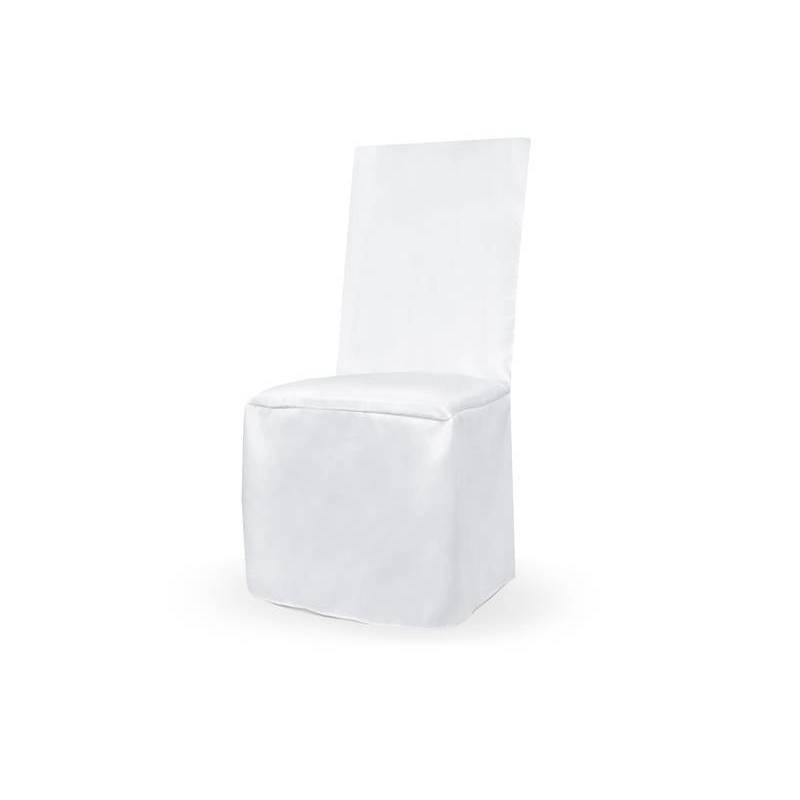 Housse de chaise fine en satin blanche