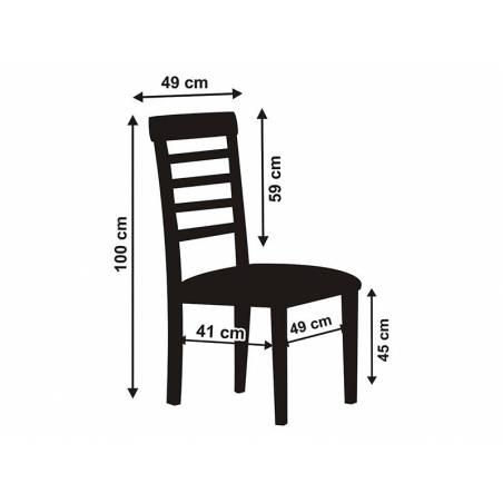 Housse de chaise en tissu mat blanc