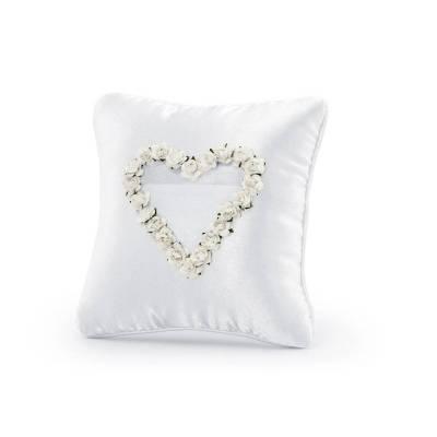 Coussin porte-anneaux blanc 20 x 20 cm