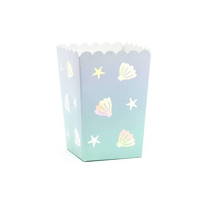 Boîtes pour narval pop-corn mélanger 7x7x12.5cm