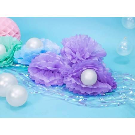 Papier de soie Pompon lilas clair 25cm