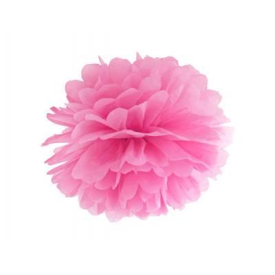 Papier de soie Pompon rose 25cm