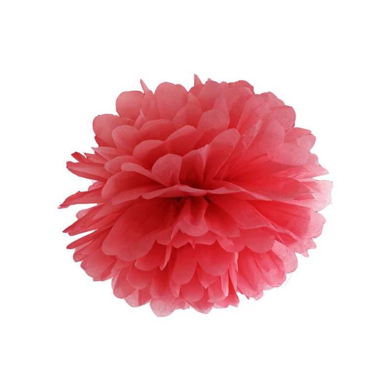 Papier de soie Pompon rouge 25cm
