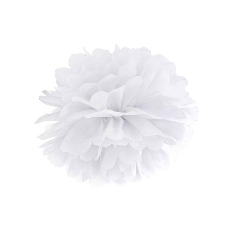 Papier de soie Pompon blanc 25cm