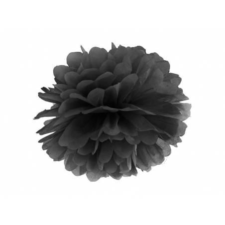 Papier de soie Pompon noir 25cm