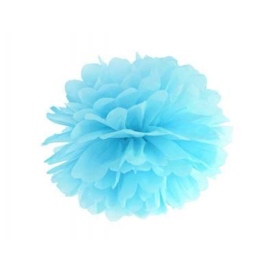 Papier de soie Pompon bleu ciel 25cm
