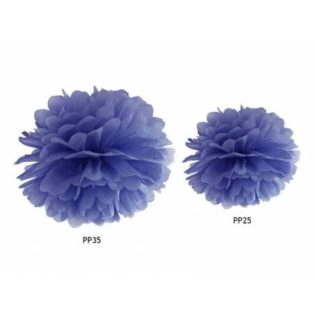 Papier de soie Pompon bleu marine 25cm