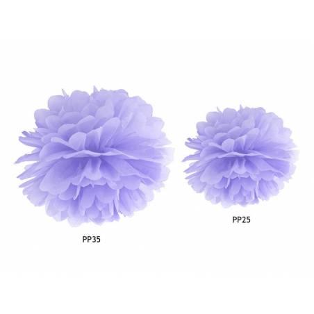 Papier de soie Pompon lilas clair 35cm