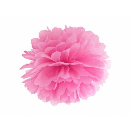 Papier de soie Pompon rose 35cm
