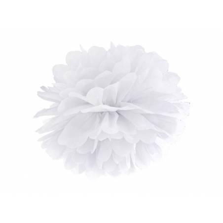 Papier de soie Pompon blanc 35cm