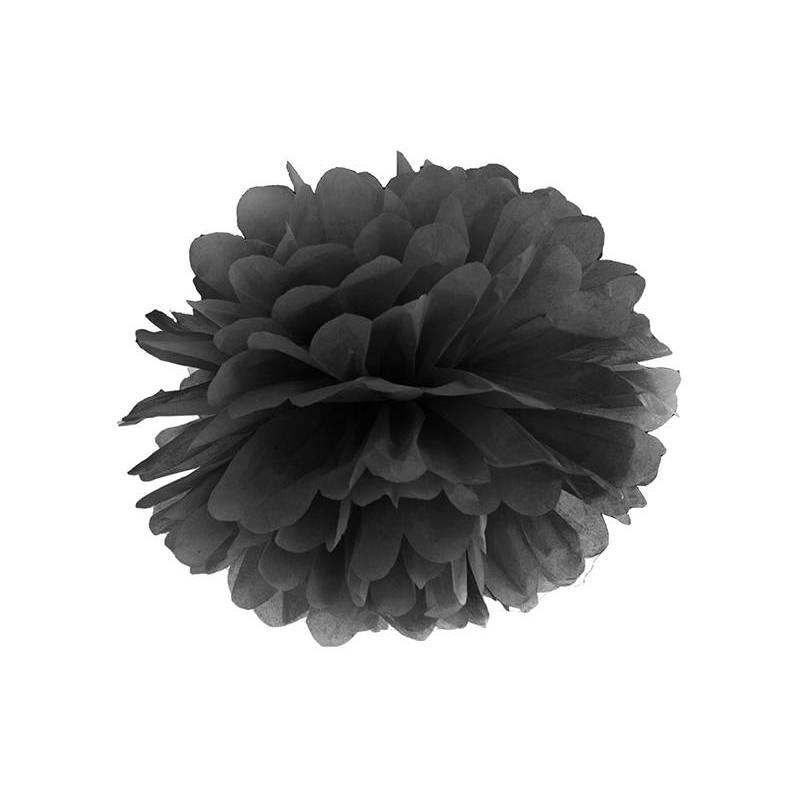 Papier de soie Pompon noir 35cm