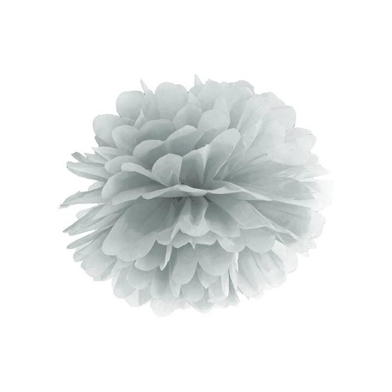Papier de soie Pompon argent 35cm