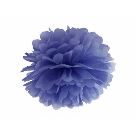 Papier de soie Pompon bleu marine 35cm