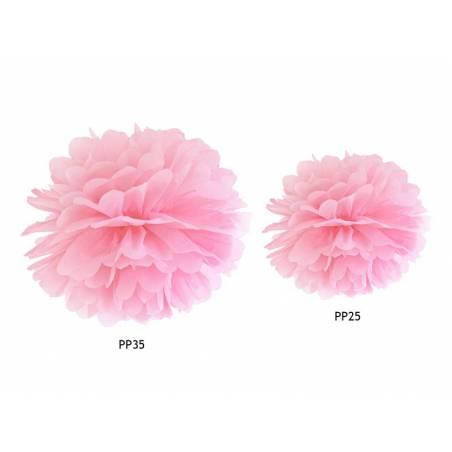 Papier de soie Pompon rose clair 35cm