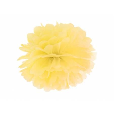 Papier de soie Pompon jaune 35cm
