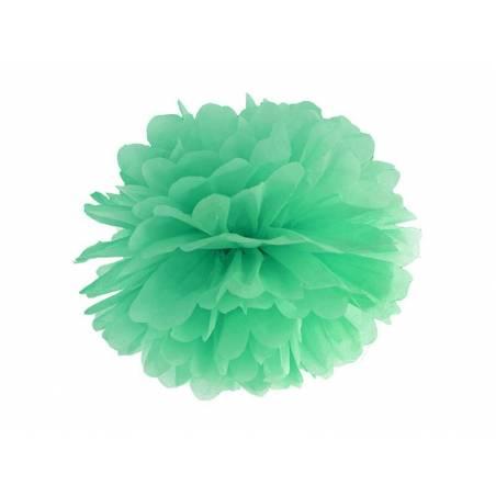 Papier de soie pompon menthe 35cm