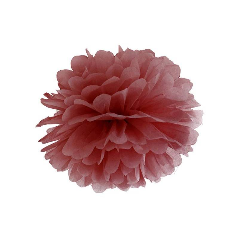 Papier de soie Pompon marsala 35cm
