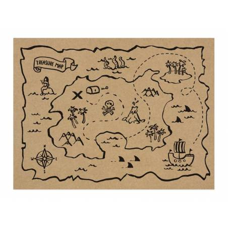 Set de table en papier Pirates Party 40x30cm