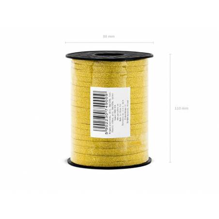 Ruban en plastique or 5mm / 225m