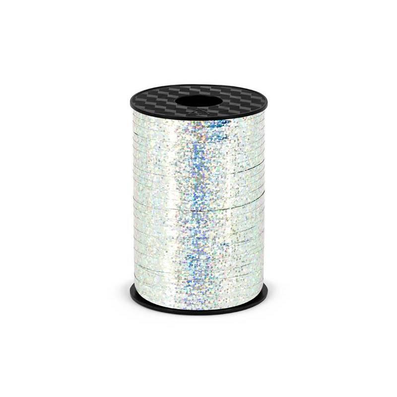Ruban en plastique argent 5mm / 225m