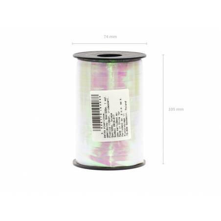 Ruban en plastique irisé 5mm / 225m