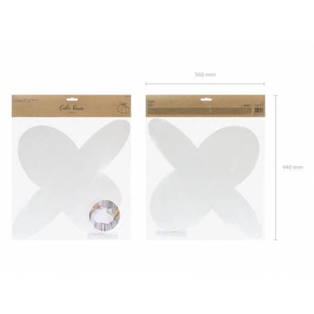 Boîte à gâteaux blanche 165x14x95cm