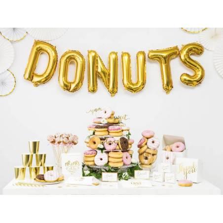 Boîtes à gâteaux décoratifs - Merci or 14x8.5x14cm
